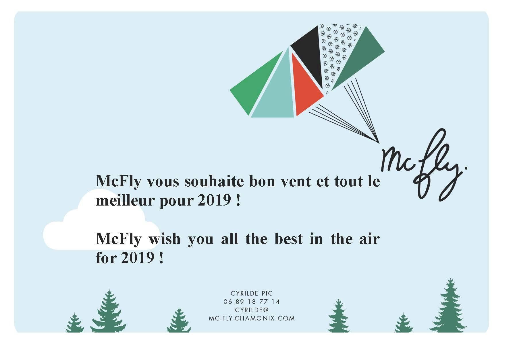 Voeux 2019 Mc Fly Chamonix Biplace parapente Speedriding